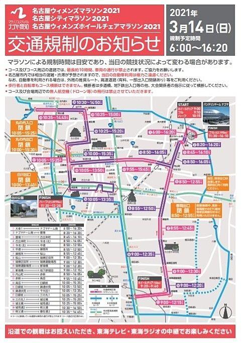 名古屋ウィメンズマラソン2021開催日の内見について